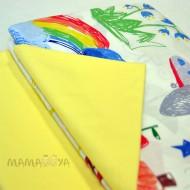 Комплект постельного белья 4625 радуга/желтый полутороспальный