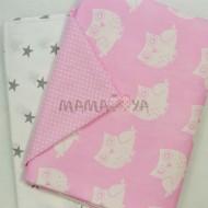 Комплект постельного белья 1682/серо-розовый полутороспальный