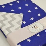 Комплект постельного белья 1700/сине-серый полутороспальный