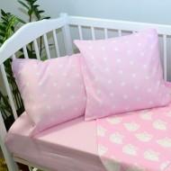 Комплект постельного белья 1682/розовый-совы