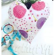 """Подушка """"Сердце в цветочек"""" декоративная в детскую комнату"""