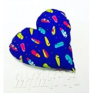 """Подушка """"Сердце синее"""" декоративная в детскую комнату"""