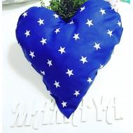 """Подушка """"Сердце синее в звезды"""" декоративная в детскую комнату"""