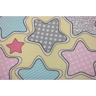 """Ткань """"Цветные звезды"""""""